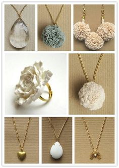 Different styled necklaces
