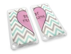 Friendship Best Friend Cute Chevron Zig Zag Heart Snap-on Clear iPod Touch 5/5th Generation Cover Carrying Case