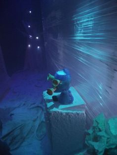 Hansel & Gretel Installation Production Photo, Ice Witch as seen from Freezer, angle