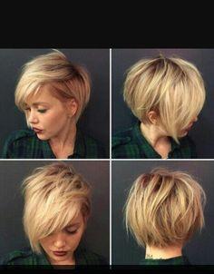 Short blonde asymmetrical hair from all angels.