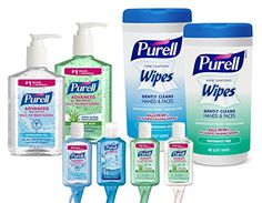 PURELL Advanced Hand Sanitizer, Travel Jelly Wraps, and Hand...