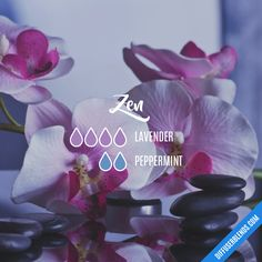 Blend Recipe: 4 drops Lavender, 2 drops Peppermint