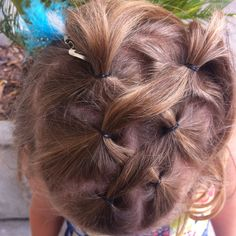 Hair idea at the top and then curl bottom half would be cute :)