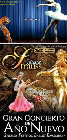 Gran Concert d'Any Nou de la Strauss Festival Orchestra, al Palau de la Música Catalana (Barcelona). Des del 21 de desembre 2014 fins a l'1 de gener 2015