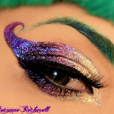 Cool costume makeup!! Could be for Mardi gras