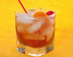 Old Fashioned  1 scant teaspoon simple syrup  2 dashes Angostura Bitters, plus more to taste  1 half dollar–sized slice orange peel, including pith  2 ounces good-quality rye or bourbon  1 maraschino cherry