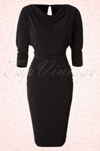 Zoe Vine Marylin Black Pencil Dress 100 10 18520 20160302 0010W