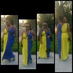 Check out my style Feeling fab in this color blocking, sexy maxi dress! I styled the dress with this a fab motorcycle jacket. Worn over shoulders. I ??? My vintage pointy toe low heels, they are so spring! My vintage pearl dangly earrings & black shoulder bag add chicness!    I'm wearing my love glasses. In my Queen's high afro puff pony! Ready to watch the show ?  Dress Nirobiscloset spring/summer 2016 Jacket, Nirobiscloset style archives! Nirobiscloset  Dresses Maxi