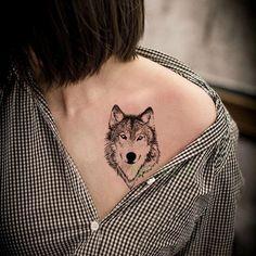 Small Wolf Tattoo Women Small Wolf Tattoo Women Wolf Tattoos For Women, Tattoos For Women Small, Tattoos For Guys, Tattoo Women, Wolf Tattoo Design, Moon Tattoo Designs, Fake Tattoos, Small Tattoos, Tatoos