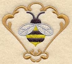 Machine Embroidery Designs at Embroidery Library! - Bee without framing