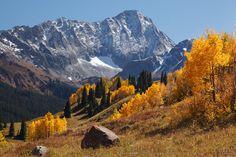 Capitol Peak, Elk Mountains, Colorado, autumn, photo