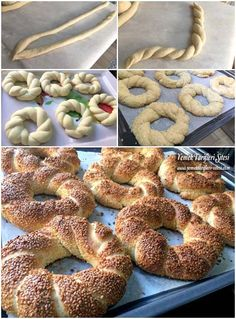 Yumuşacık Simit Tarifi Turkish Recipes, Italian Recipes, Turkish Sweets, Bagel Recipe, Food Articles, Fresh Fruits And Vegetables, Fish And Seafood, Bon Appetit, Amazing Cakes