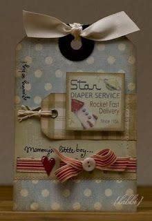 Love the muted colours on this tag, and the added 'vintage' feel by muddying up the edges.  Nicely put together.