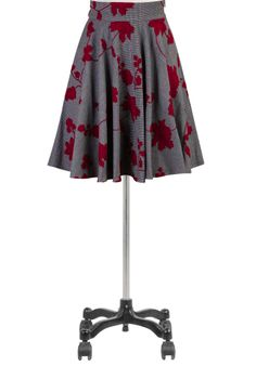 Floral Embroidered Skirts, Houndstooth Circle Skirts Womens designer fashion - Ladies Skirts - Women's Skirts - Skirts for Women | eShakti.c...