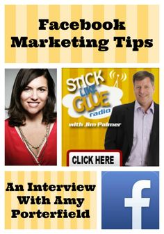 Facebook Marketing Tips - An Interview With @Amy Porterfield  on Stick Like Glue Radio #Facebook #marketing #tips