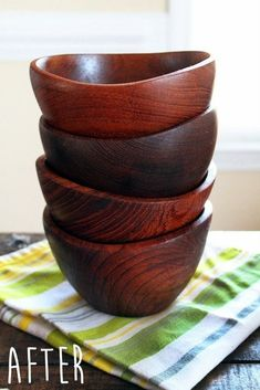 Refinishing Wooden Bowls #howto #tutorial