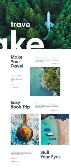 Make Your Travel by Surja Sen Das Raj. website templates: Make Your Travel by Surja Sen Das Raj. Web Design Grid, Web Design Tips, Web Design Trends, Flat Design, Web Grid, Clean Web Design, Simple Web Design, App Design, Branding Design
