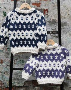 Islandsk sweater opskrift til børn - Køb din strikkeopskrift her