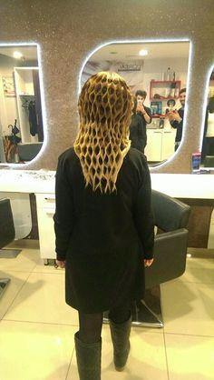 A very unique hairstyle by Burak Özen!