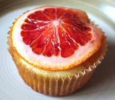 Blood Orange Muffins with Candied Blood Orange Slices
