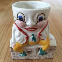 Made in England. Vintage Egg Cups, Egg Holder, Humpty Dumpty, Vintage Glassware, Vintage Ceramic, Nursery Rhymes, Norfolk, Porcelain, England