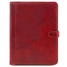 Adriano - Dokumentveske med knappelukking - Rød Leather Case, Brown Leather, Leather Portfolio, Pen Holders, Cloth Bags, Accessories, Dust Bag, Men Online, Luxury Fashion