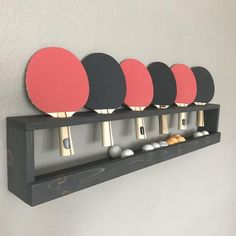 Your place to buy and sell all things handmade Ping Pong Holder Ping Pong Ball Holder Bar Room Game Room Design Room, Home Design, Studio Design, Design Ideas, Garage Game Rooms, Game Room Basement, Teen Basement, Playroom, Ping Pong Room