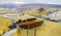 'The Doone Valley, Exmoor' oil on board 'Southstoke, Autumn oil on board 45 x 60 cms Art Works, Landscape Paintings, Art Images, Oil Painting Landscape, Abstract Painting, Painting, British Art, Western Paintings, Landscape Art