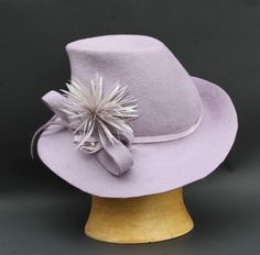 Lavender Endora Hat Women Millinery by IVANA HOWCROFT #millinery #hats #HatAcademy