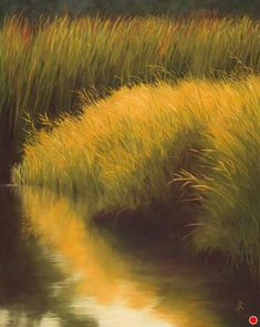 Water Grasses on the Flathead by Jeanette Rehahn Pastel ~ 30 inches x 24 inches