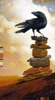 """Craig Kosak's series of paintings, """"Roadtrip with Raven"""" indexed on this page"""