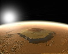 TIL that at 3 times the height of the tallest mountain on Earth Mount Everest and 100 times the volume of the tallest volcano on Earth Mauna Loa Mar's Olympus Mons currently stands as the largest volcano in the solar system. Cosmos, Red Planet, Mars Planet, Planet Earth, Space And Astronomy, Our Solar System, Space Exploration, The Martian, Spacecraft