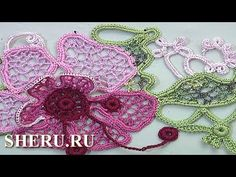 Irish or Guipure Lace, Tutorial 55 Freeform Crochet, Thread Crochet, Crochet Motif, Crochet Doilies, Knit Crochet, Lace Flowers, Crochet Flowers, Irish Crochet Tutorial, Romanian Lace