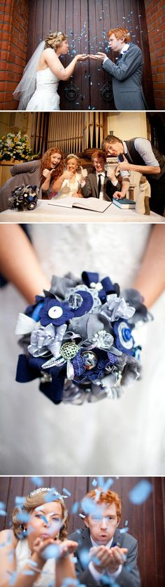 what a lovely idea for an unusual bouquet
