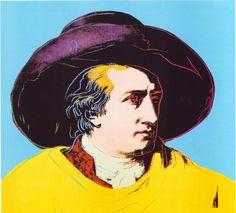 adreciclarte:  Goethe, 1982 by Andy Warhol