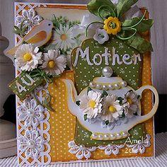 Daisies plus teapot plus lace= adorable