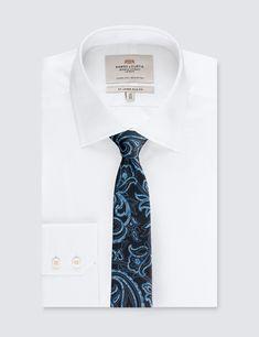 Men's Navy Tonal Paisley Tie