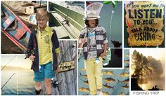 Girls + Boys Themes S/S 2015, Fashion Snoops  FISHING TRIP: Focusing in on the idea of the ocean, the theme incorporates plenty of wave, fish and expedition prints paired with colored plaids and checks. Exposed pockets, fabric panels, floral patchwork linings, multi pocketed vests, rolled cuffed trousers and color blocked jackets are reeled in with fishing and straw hats, rubber boots, back packs and espadrilles.