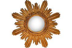 Antique Gold Sunburst Mirror on OneKingsLane.com