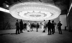 One design company in Darmstadt, Germany,was ordered to create a huge chandelier for a mansion in Saudi Arabia... but could not find a room big enough to test it. So they hung it up inside a nearby slaughterhouse, profoundly surprising all resident cows and bulls.  Read more at http://www.darkroastedblend.com