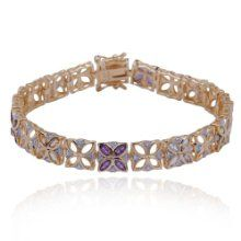 """Yellow Diamond Shop are happy to stock the excellent 18k Yellow Gold Plated Sterling Silver Multi-Gemstone and Diamond Flower Bracelet, 7.25"""".    With so many available these days, it is great to have a make you can trust. The 18k Yellow Gold Plated Sterling Silver Multi-Gemstone and Diamond Flower Bracelet, 7.25"""" is certainly that and will be a great purchase."""