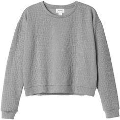 Monki Linn sweat (195 MXN) ❤ liked on Polyvore featuring tops, hoodies, sweatshirts, sweaters, shirts, jumpers, pattern perfect, print sweatshirt, print shirts y snakeskin top
