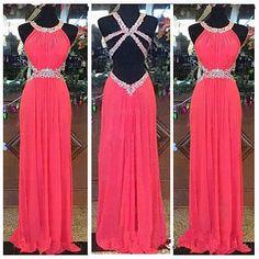 Handmade Pretty Watermelon Backless Prom Dresses 2016, New