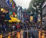 Rue St-Louis par Patrick Kinn  #Art #Quebec #Artwork #Artist #Landscape #Painting #Paysage #Peinture #VieuxQuebec St Louis, Rue, Land Scape, Artwork, Art Gallery, Street View, New York, Paintings, Toile