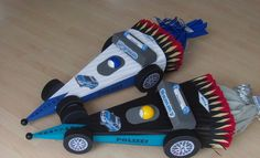 Schultüte Rennauto Polizei, Formel 1,  BASTELSET von Jeanetts_Creativ_Stube auf DaWanda.com