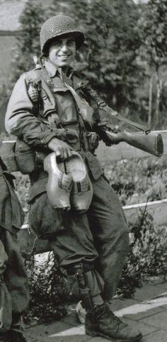 Frank Perconte in Holland 1944. Rest in Peace Frank!
