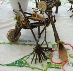 #MiniatureGarden tools and wheelbarrow.