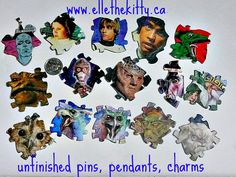 Star wars hobbit and other fantasy items. made from recycled star wars cards, a hobbit graphic novel and other media.  Handmade recycled media jewelry   Items are one of a kind and can be ordered as pins, magnets, pendants, zipper pulls, shoe charms and other things. Support indie art  www.ellethekitty.ca