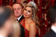 You Won't Fully Appreciate Queen Maxima's 1-Shouldered Gown Until You See Its Embellished Details