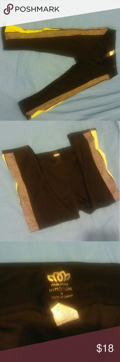 Maurices Inmotion Workout Capris Used once. Green on the sides is mesh. Size M. Maurices Pants Capris